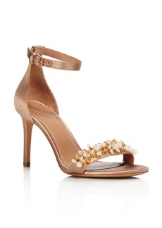Tory Burch Women's Logan Embellished Satin Sandals