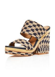 Tory Burch Women's Lola Woven Jute & Leather High-Heel Slide Sandals