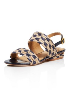 Tory Burch Women's Lola Woven Jute & Leather Slingback Sandals