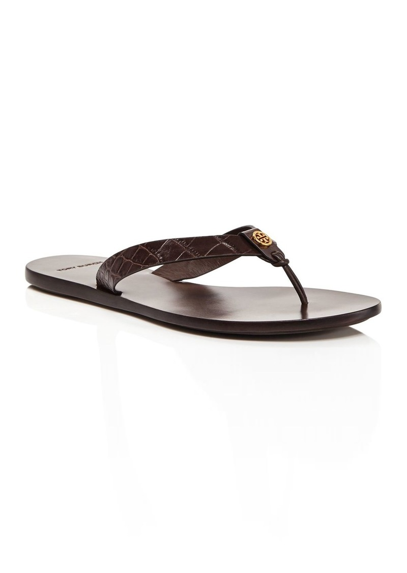 Tory Burch Women's Manon Embossed Leather Flip-Flops