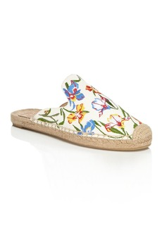 Tory Burch Women's Max Floral Embroidered Espadrille Mules