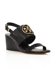 Tory Burch Women's Metal Miller Wedge Heels