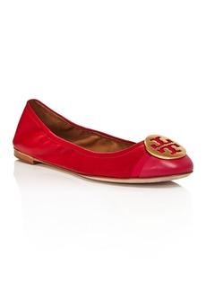 Tory Burch Women's Minnie Cap Toe Ballet Flats
