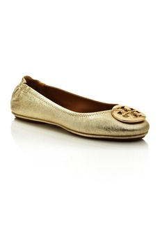 Tory Burch Women's Minnie Leather Travel Ballet Flats