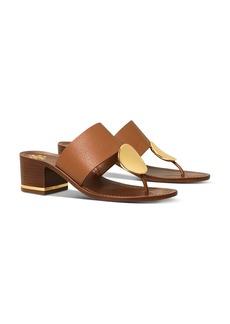 Tory Burch Women's Patos Disc Block-Heel Thong Sandals