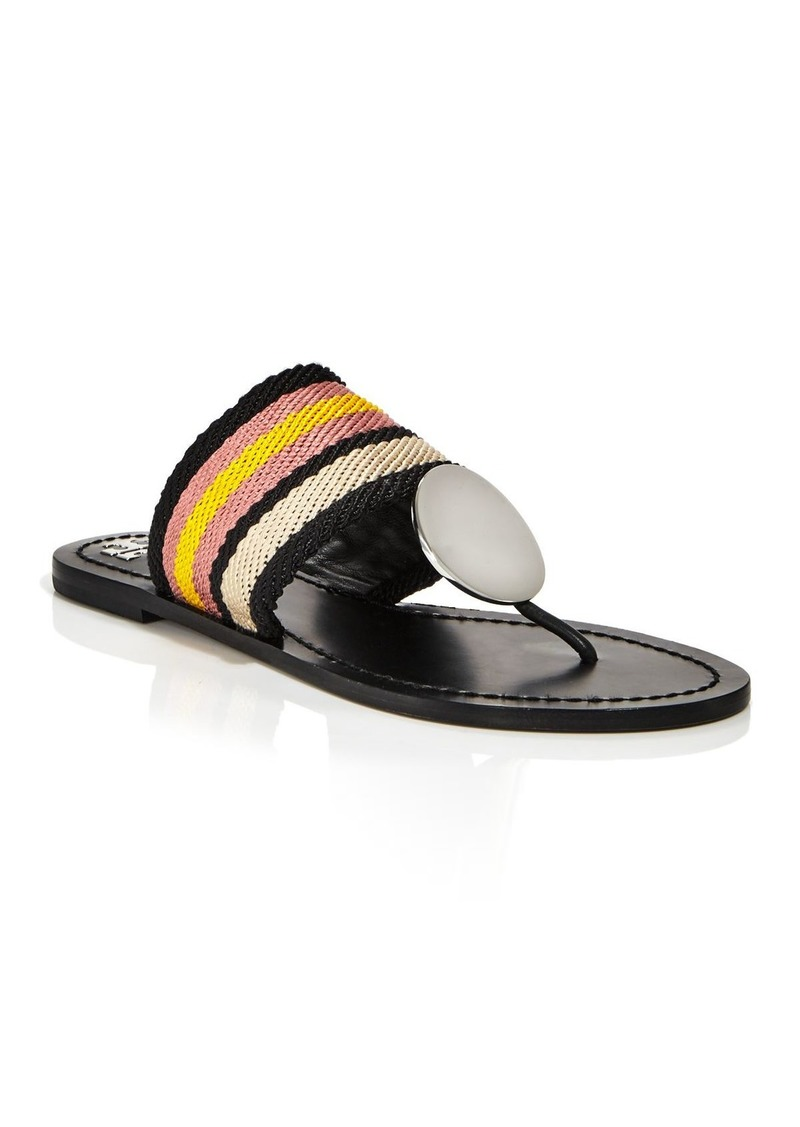 Tory Burch Women's Patos Stripe Disc Thong Sandals