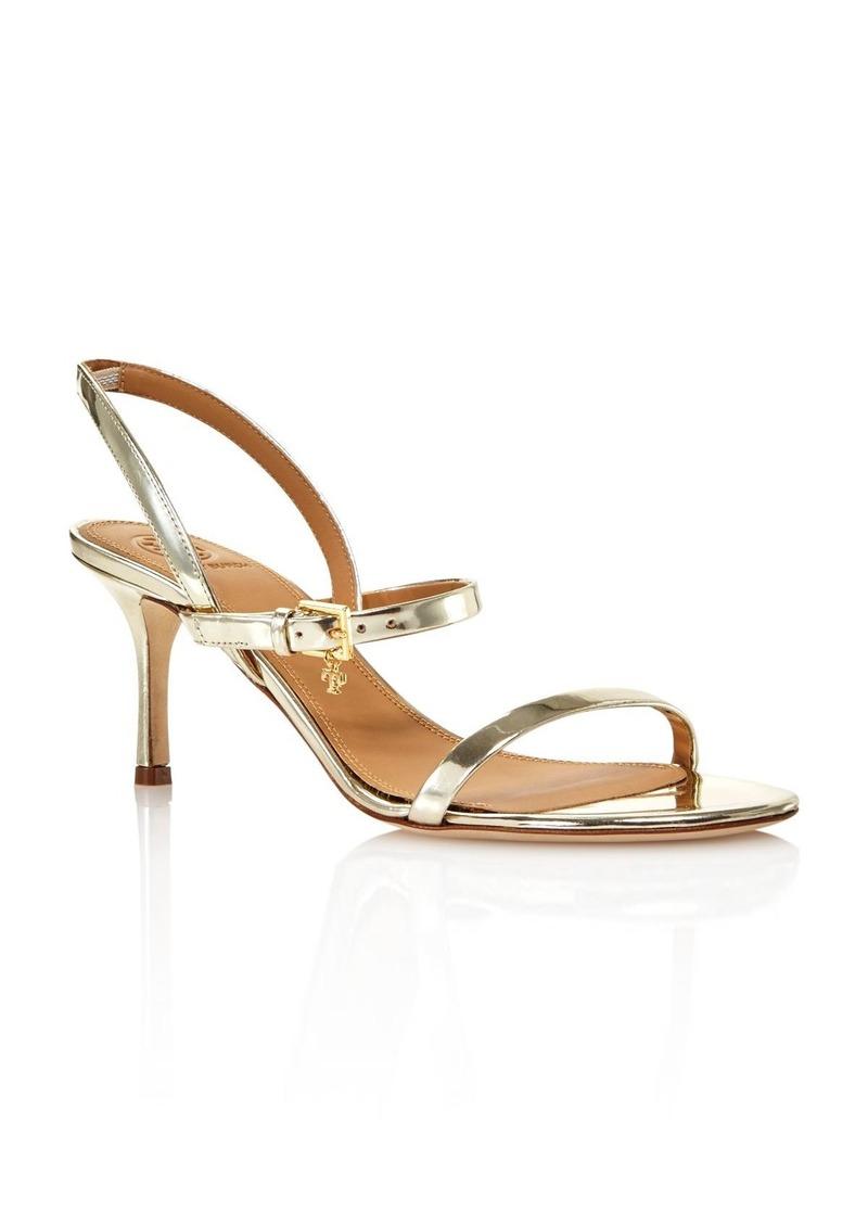 Tory Burch Women's Penelope Open-Toe Metallic Leather High-Heel Slingback Sandals