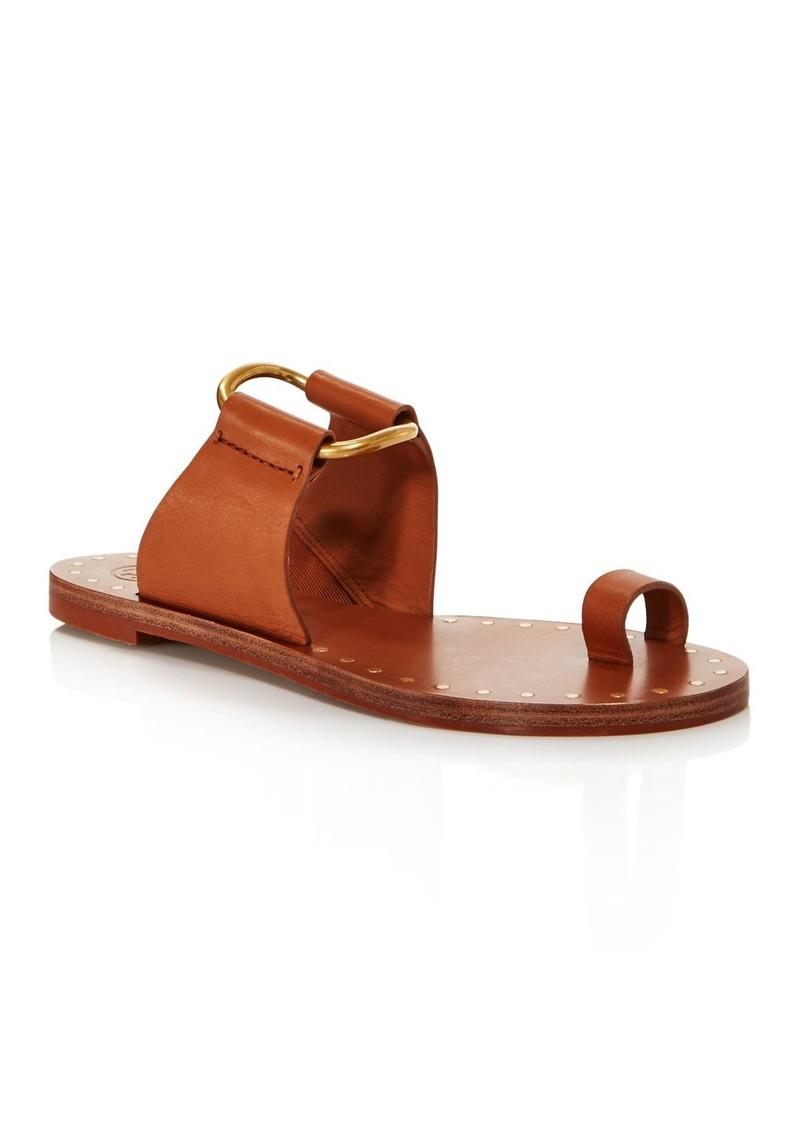Tory Burch Women's Ravello Studded Leather Slide Sandals