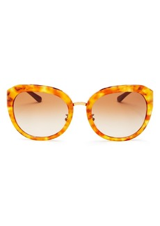 Tory Burch Women's Reva Round Sunglasses, 56mm