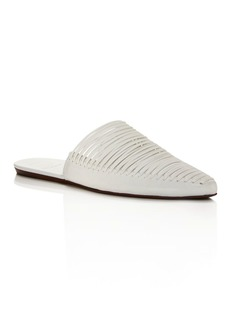 Tory Burch Women's Sienna Woven Leather Pointed Toe Mules