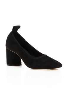 Tory Burch Women's Therese Suede Mid Heel Pumps