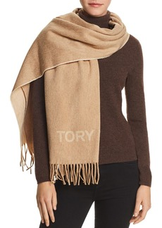 Tory Burch Wool Logo Scarf