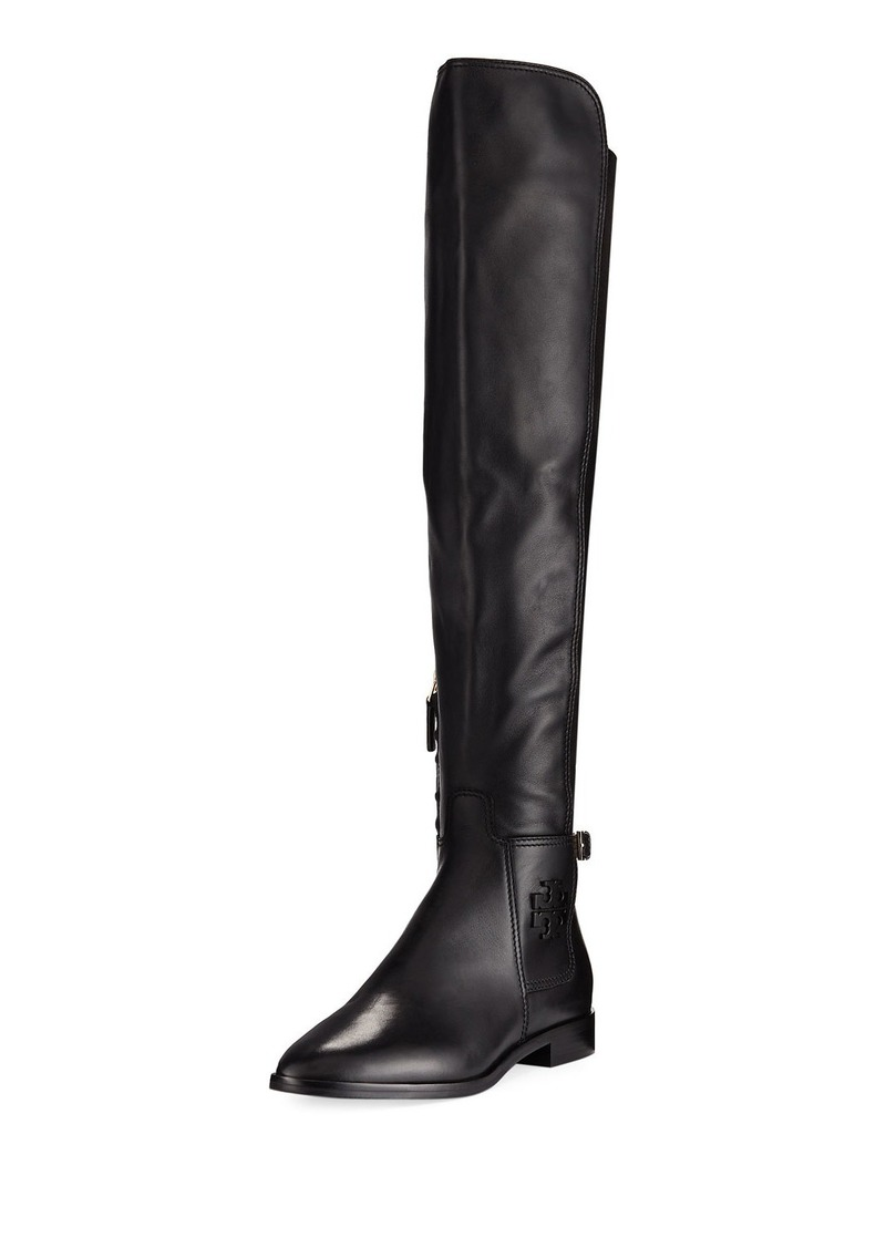 3fafe90b125 Tory Burch Tory Burch Wyatt Stretch Leather Over-The-Knee Boot Now ...