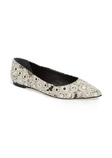 Tory Burch Yasmin Embroidered Flat (Women)