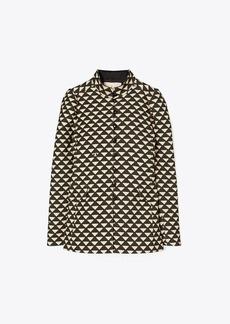 Tory Burch Triangle Geo Twill Crepe Jacket
