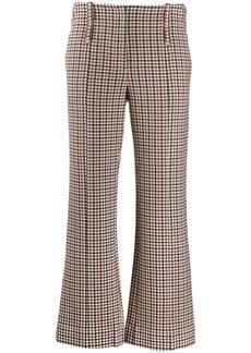 Tory Burch Trombetta check trousers