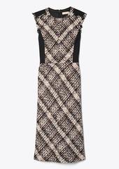 Tory Burch Tweed Sleeveless Pencil Dress