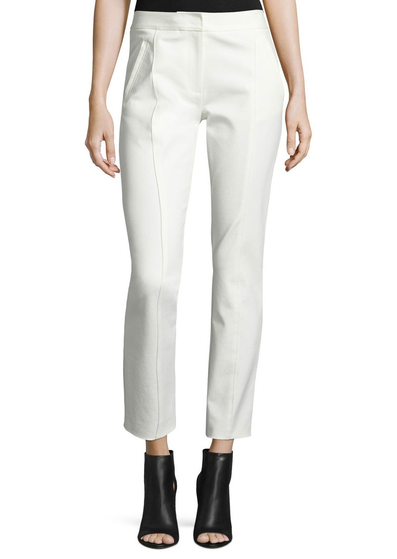 Tory Burch Vanner Slim Ankle Pants  New Ivory