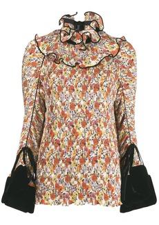 Tory Burch velvet cuff blouse