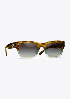 Tory Burch RECTANGULAR LOGO SUNGLASSES