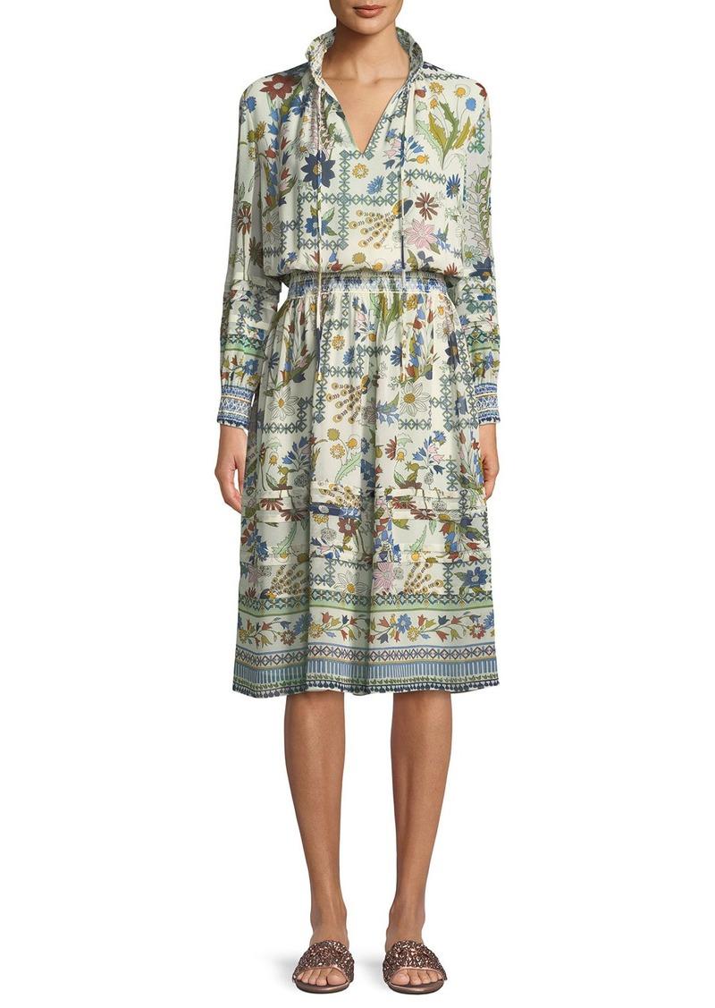 1f08b41340 Tory Burch Waverly Meadow Floral Long-Sleeve Shirt Dress | Dresses