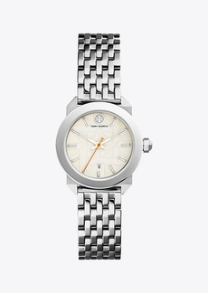 Tory Burch WHITNEY WATCH, STAINLESS STEEL/IVORY, 28 MM