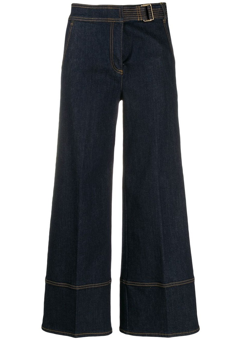 Tory Burch wide leg jeans