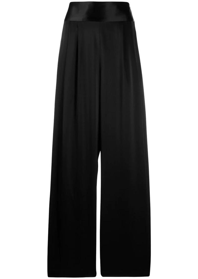 Tory Burch wide-leg satin trousers