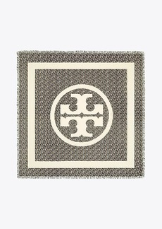 Tory Burch WILD PANSY LOGO SQUARE SCARF