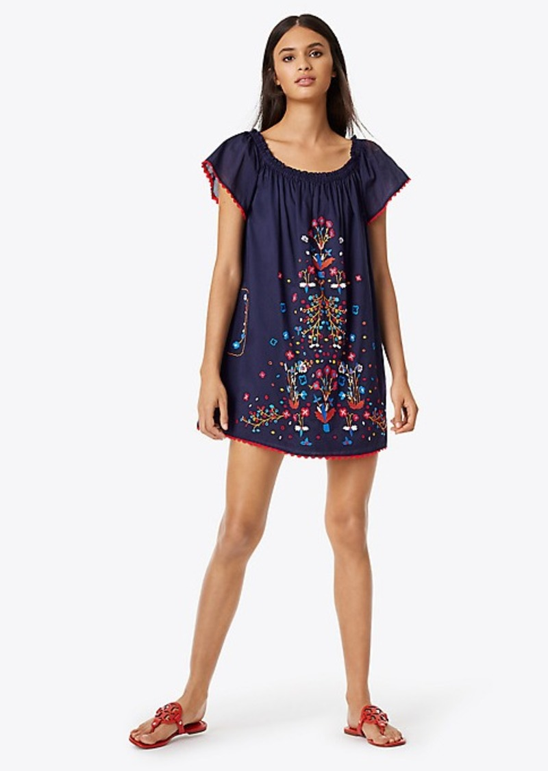 2d481509ee Tory Burch WILDFLOWER EMBROIDERED BEACH DRESS