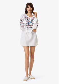 Tory Burch WILDFLOWER EMBROIDERED BEACH TUNIC