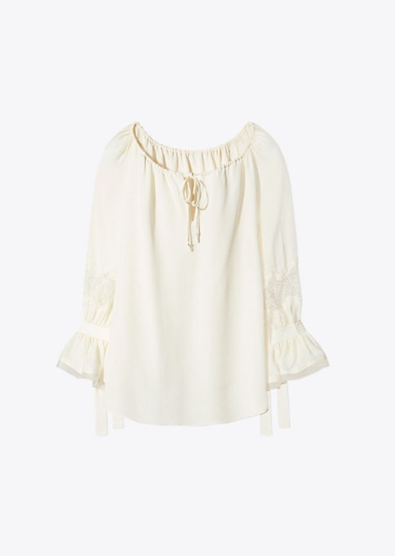 4364470866923a On Sale today! Tory Burch WILLOW BLOUSE