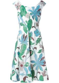 Tory Burch wisteria jacquard flared dress