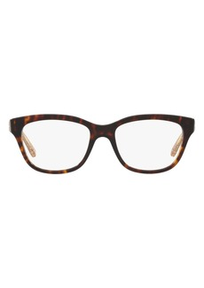 Women's Tory Burch 52mm Square Optical Glasses - Dark Tortoise