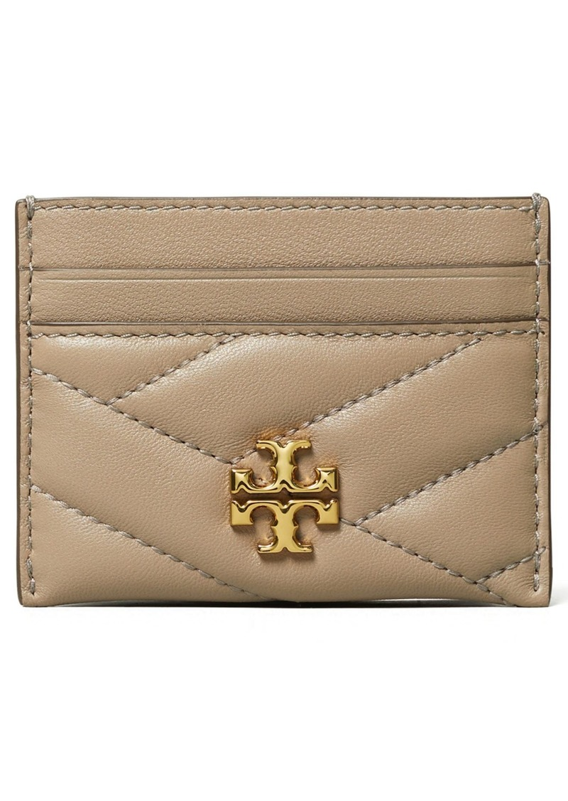 Tory Burch Kira Chevron Leather Card Case in Gray Heron at Nordstrom