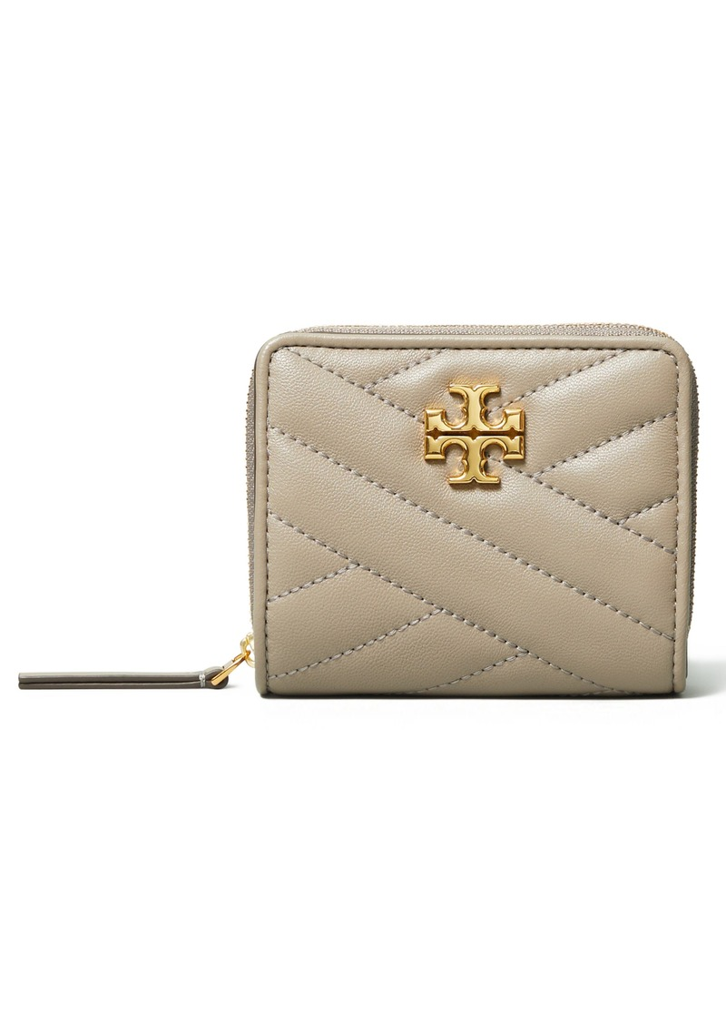 Tory Burch Kira Chevron Quilted Bifold Wallet in Gray Heron at Nordstrom