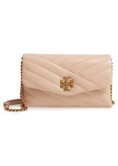 Tory Burch Kira Chevron Quilted Leather Wallet on a Chain in Black at Nordstrom