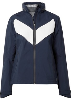 Tory Sport All-weather Run Hooded Paneled Shell Jacket
