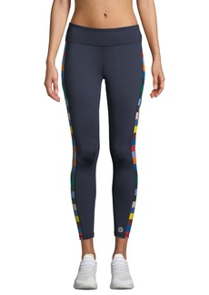 Tory Sport Checkered 7/8 Performance Leggings