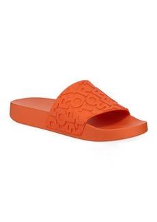 Tory Sport Embossed Logo PVC Slide Sandals
