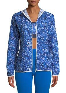 Tory Sport Floral-Print Packable Performance Jacket