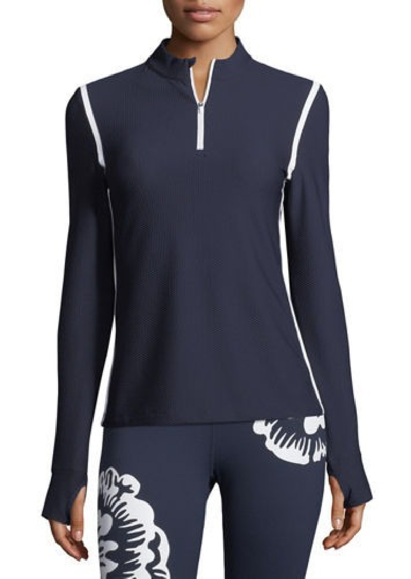 Tory Sport High-Visibility Quarter-Zip Pullover