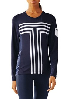 Tory Sport Long-Sleeve Performance Graphic Top
