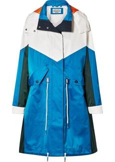 Tory Sport Oversized Hooded Color-block Shell Jacket