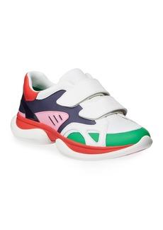 Tory Sport Paris Colorblock Grip-Strap Sneakers