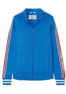 Tory Sport Striped Stretch-jersey Track Jacket