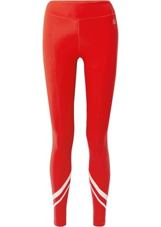 Tory Sport Striped Stretch-tactel Leggings