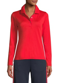 Tory Sport Tech Pique Long-Sleeve Polo Shirt