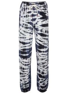 Tory Sport Tie-dye cotton-blend sweatpants
