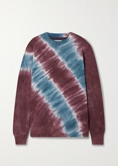 Tory Sport Tie-dyed Cotton-terry Sweatshirt